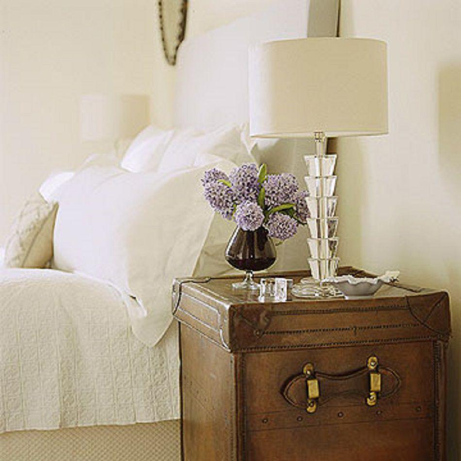 Bedroom with antique nightstand