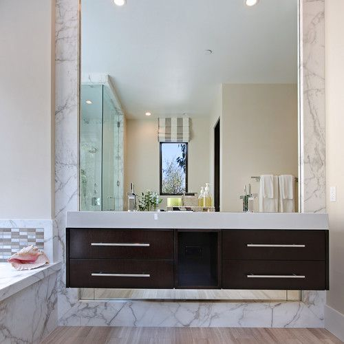 13 Beautiful Mirrored Bathrooms, Large Mirrors For Bathrooms