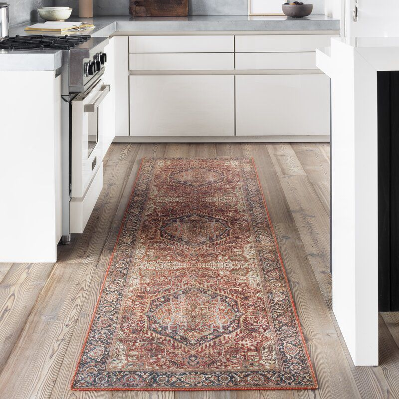Joss and Main Oriental Red/Navy Area Rug