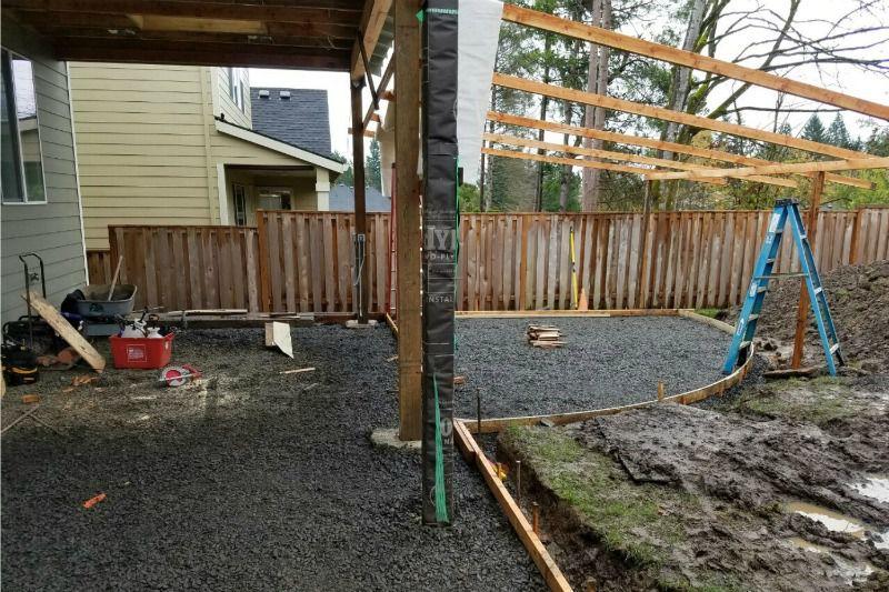 construcción de patio