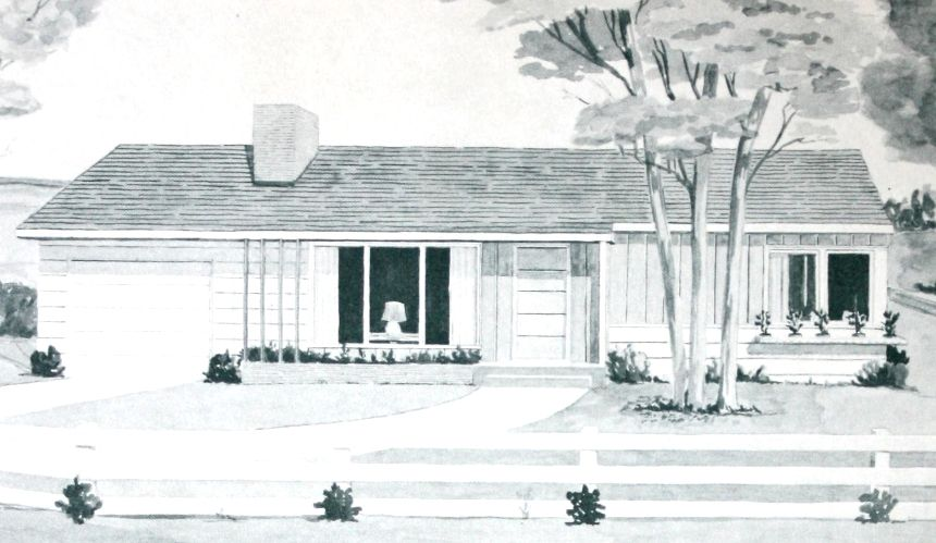 Exterior View of 2 Bedroom, 1 Bathroom House