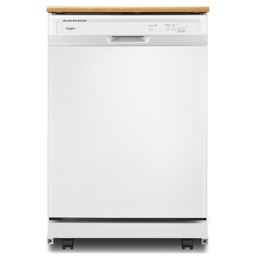 Whirlpool 24.125-in 64-Decibel Portable Dishwasher (White)