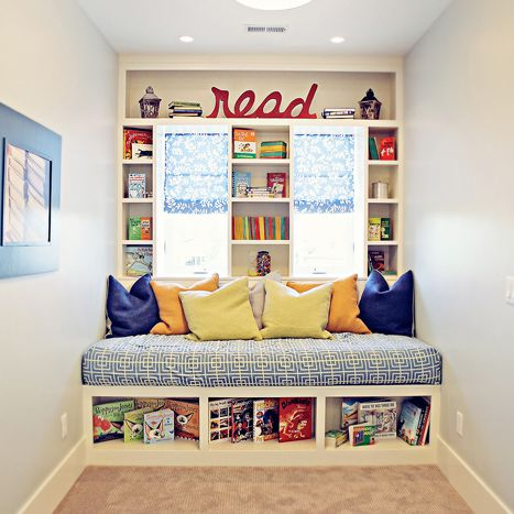 Book nook with read sign