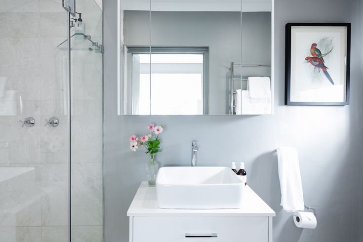 23 Ideas For Beautiful Gray Bathrooms, Bathroom Wall Colors With Dark Brown Cabinets