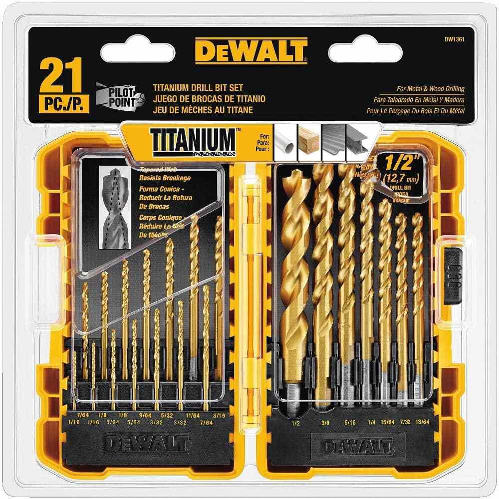 Titanium Drill Bit Set