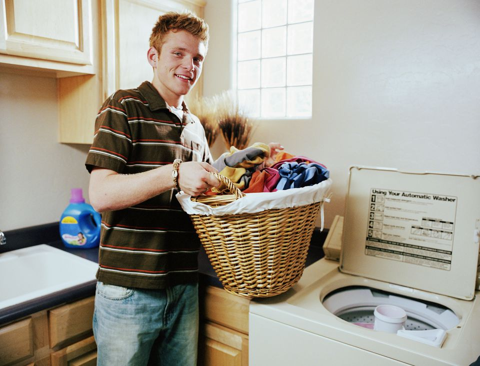 Teen boy laundry