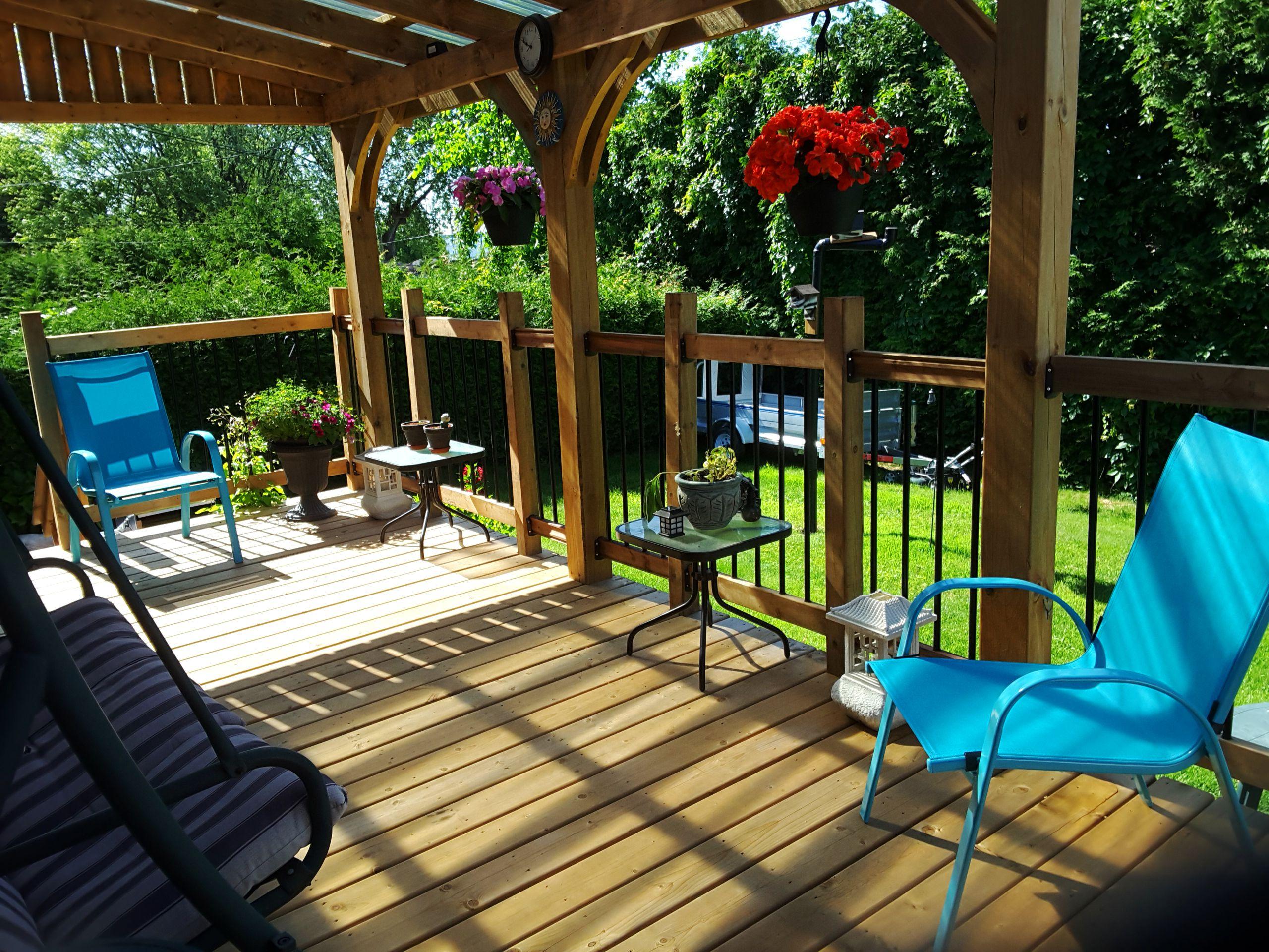 Newly Built Canadian Summer Deck