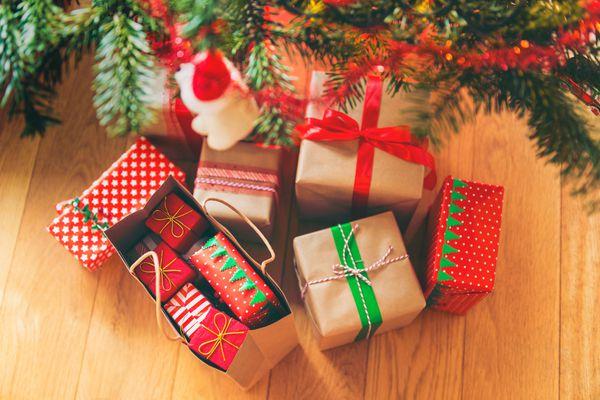 Christmas Presents under Christmas Tree