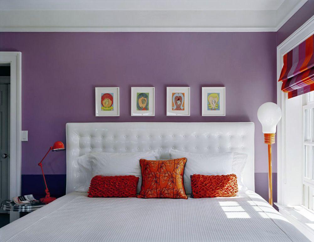 Vinyl Headboard Purple Walls