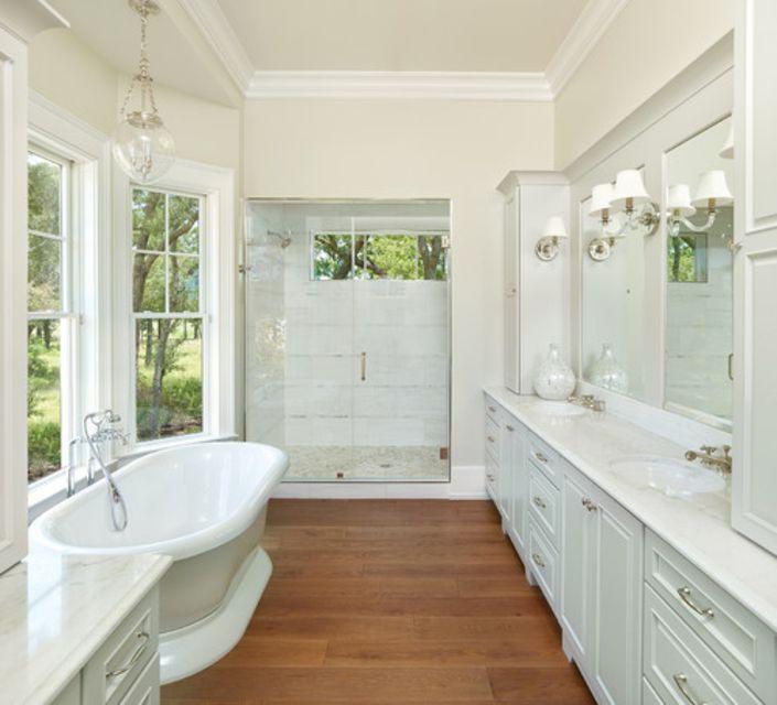 Classic wood bathroom