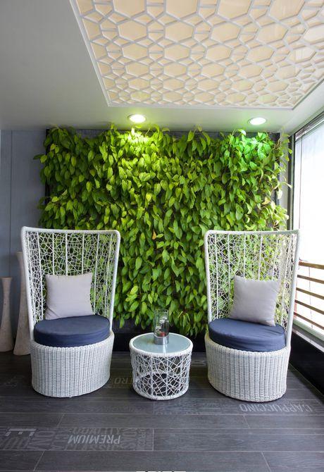 diseño de pared verde