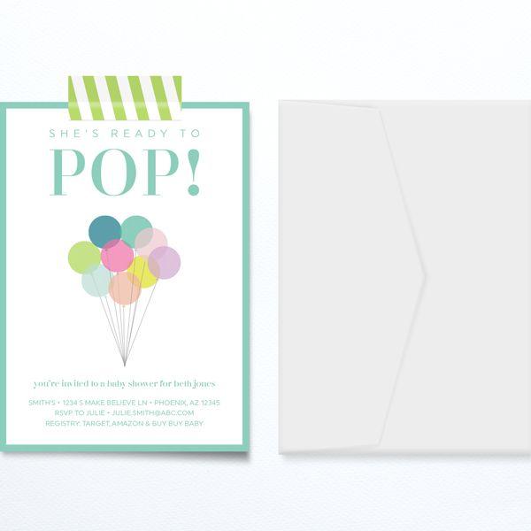 DIY Printable About to Pop Digital Paper