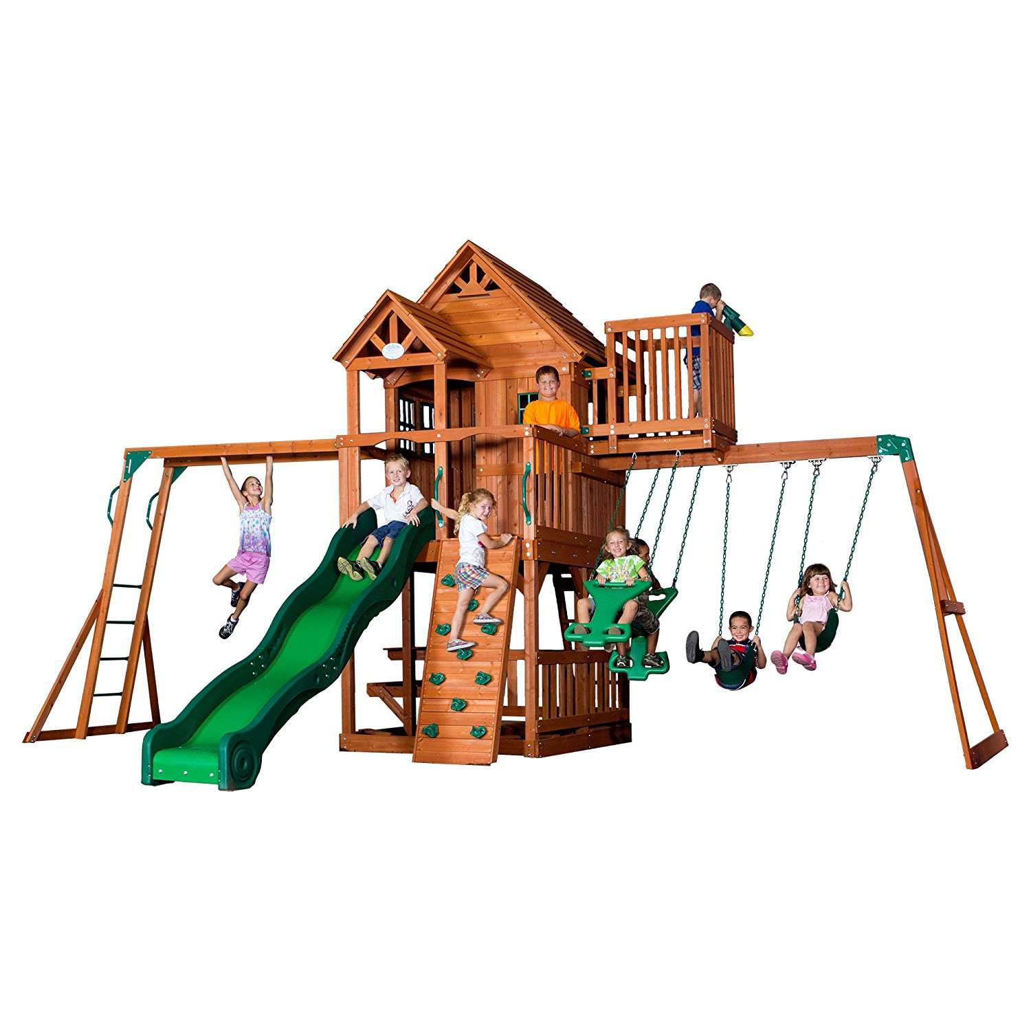 A picture of the Backyard Discovery Skyfort II play set