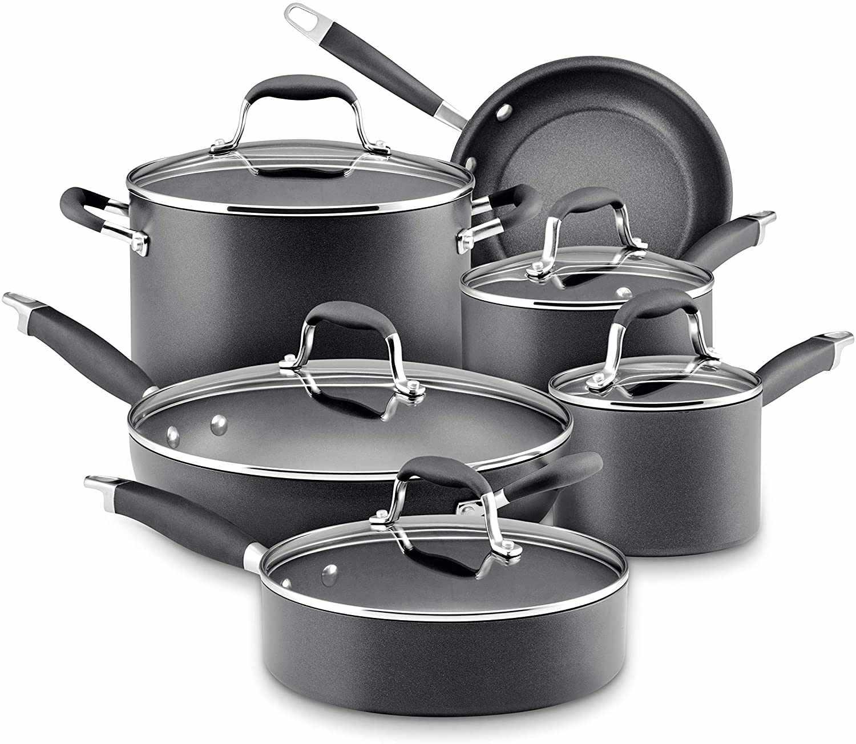 Anolon Advanced Bronze Nonstick 11-Piece Cookware Set