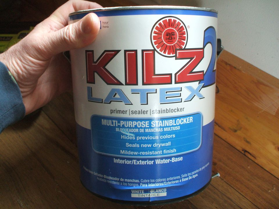 Kilz 2 latex interior exterior water based primer for Kilz kilz 2 interior exterior latex primer