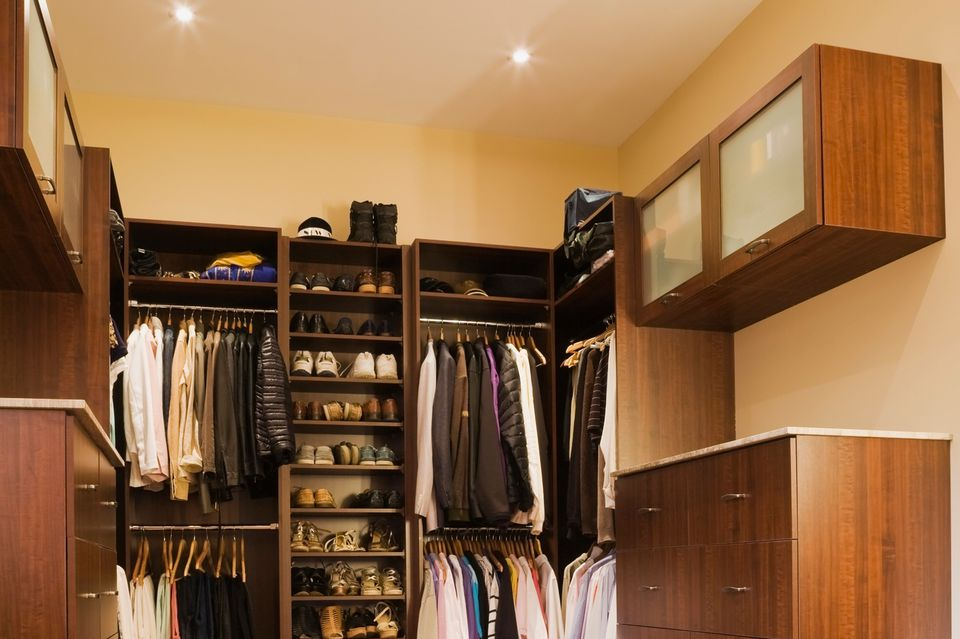 A luxury walk-in closet