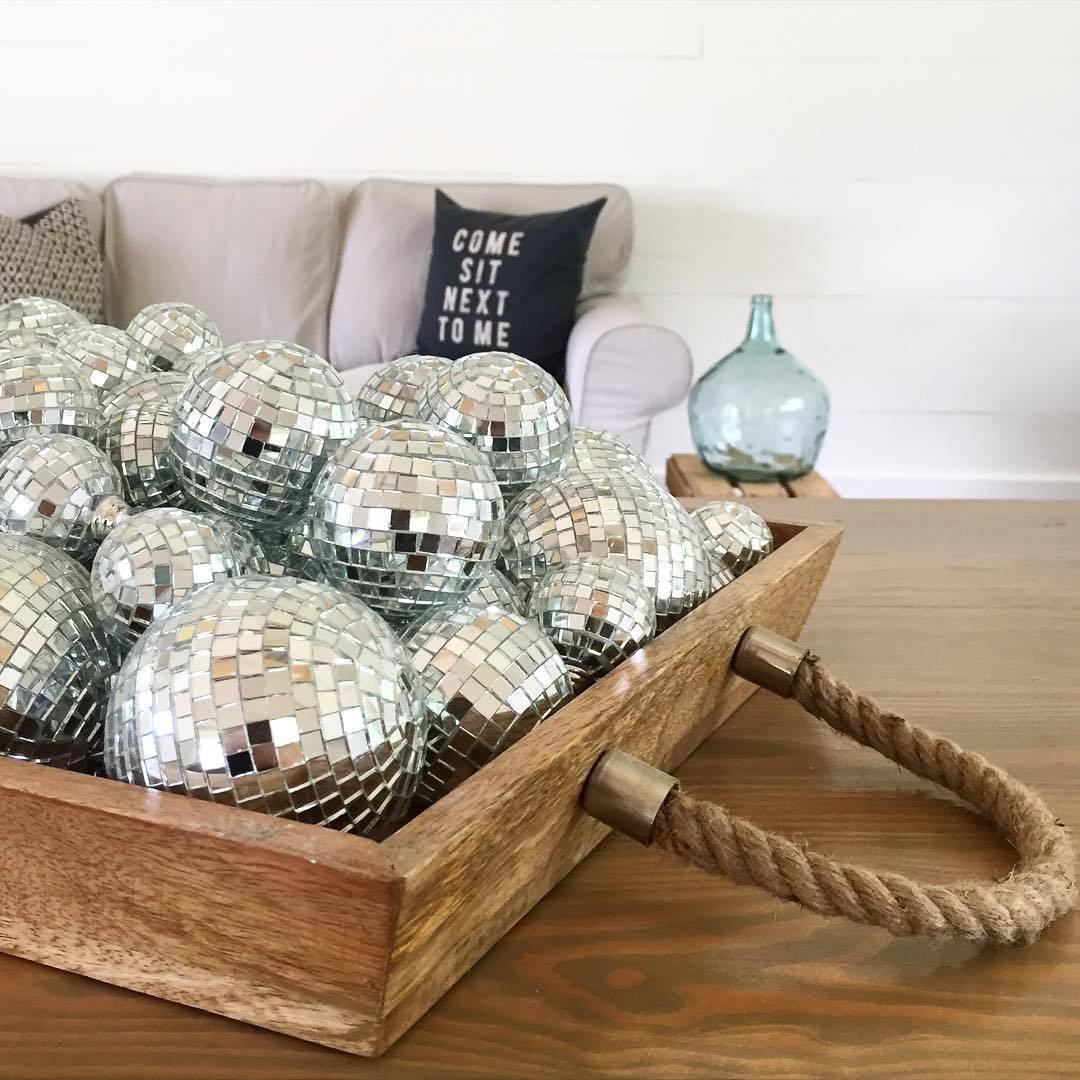 basket of disco balls