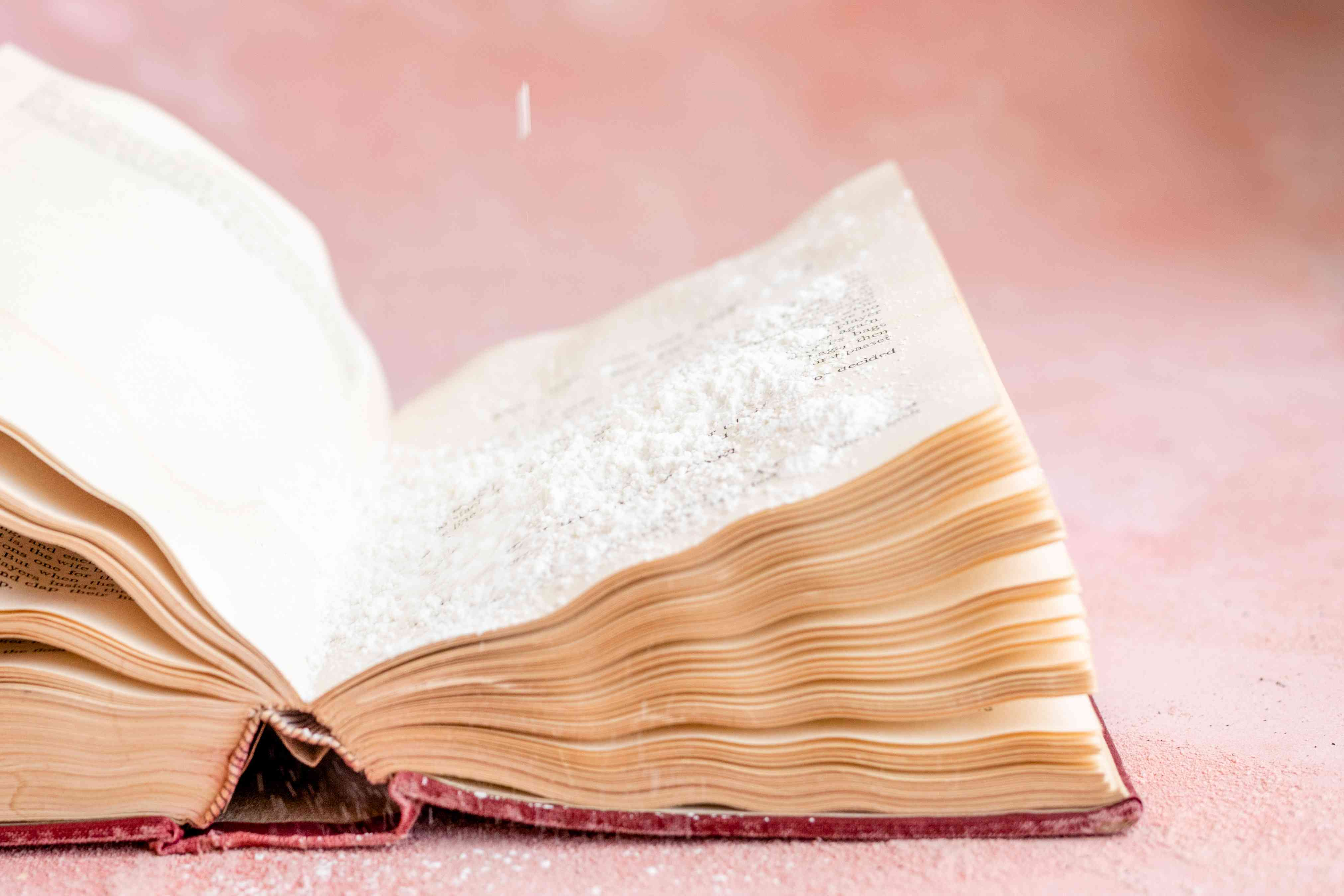 moisture damage on books