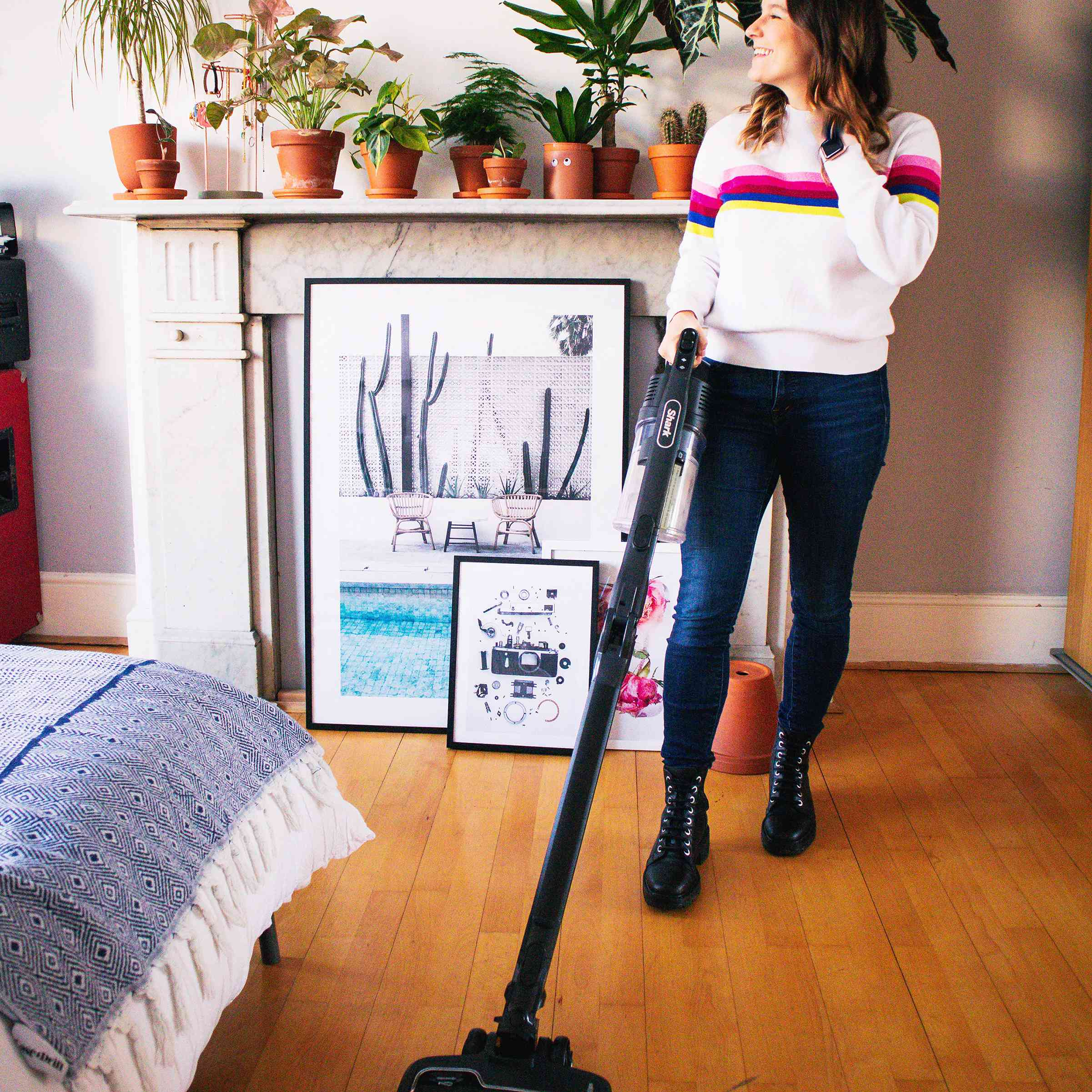 Taylor Fuller and her new vacuum