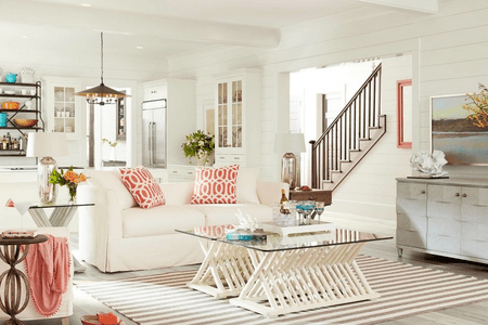 beachy furniture. Simple Furniture Beachy Living Room With Shiplap Detail Beachy Furniture C