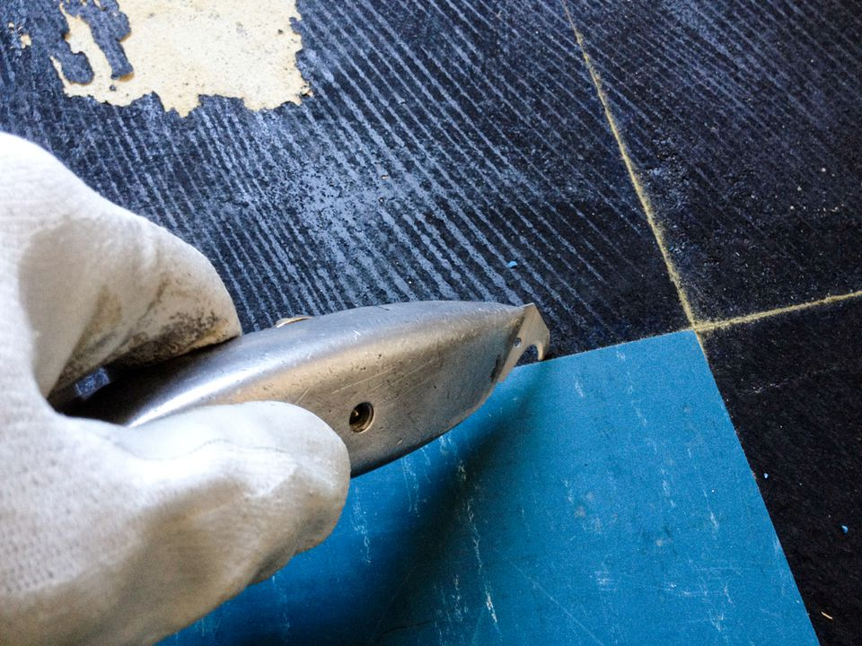 Black Mastic Adhesive Under Flooring