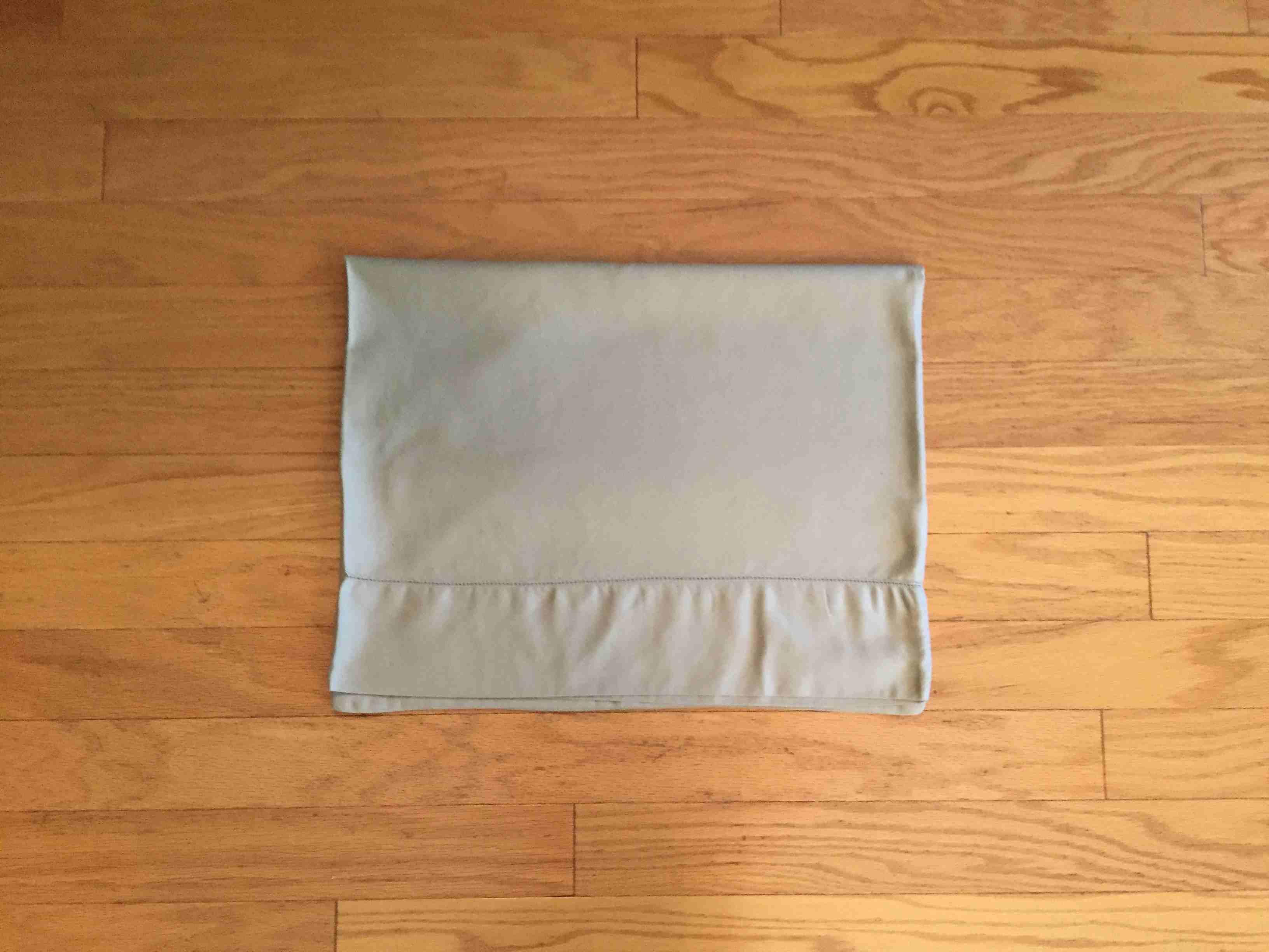 Duvet cover folded in half