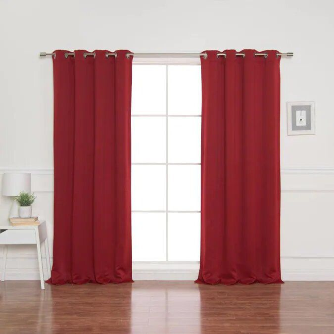 Best Home Fashion 54-in Polyester Blackout Grommet Curtain Panel Pair