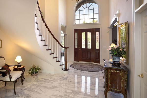 Marble floor tile in foyer