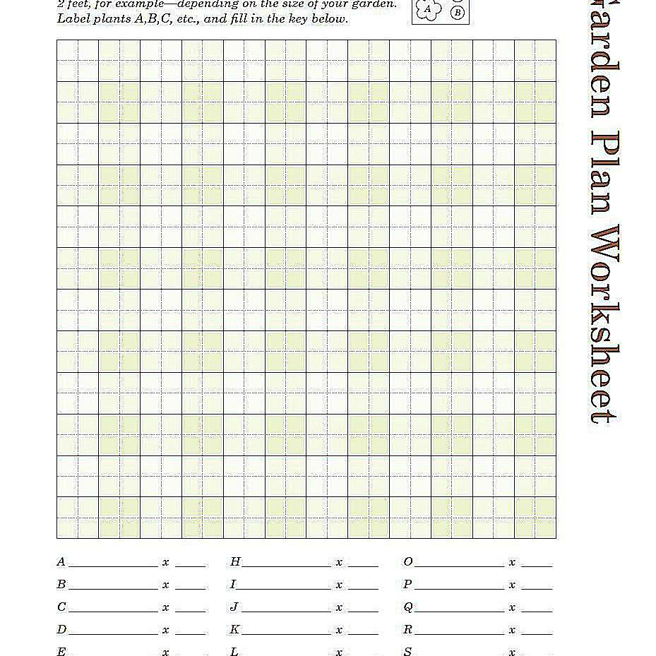 Playful image pertaining to garden planning worksheet