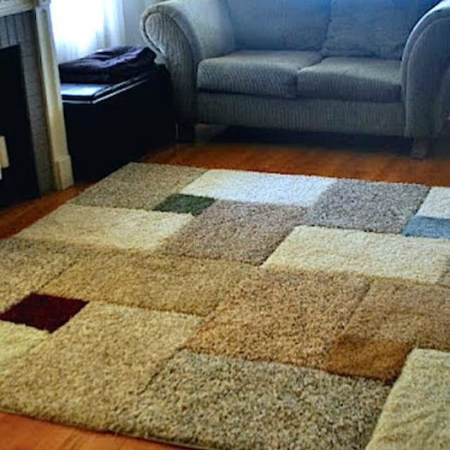 Area Rug Made from Carpet Squares