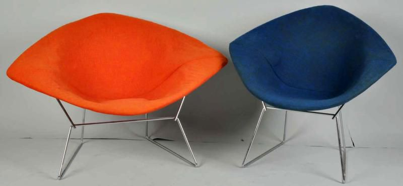 Diamond Chairs designed by Harry Bertoia for Knoll International, c. 1950s