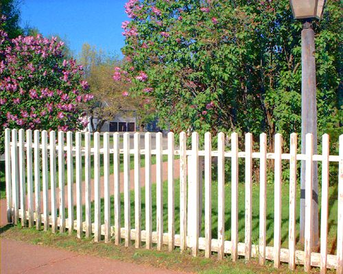 Picture of picket fencing using the square board style.