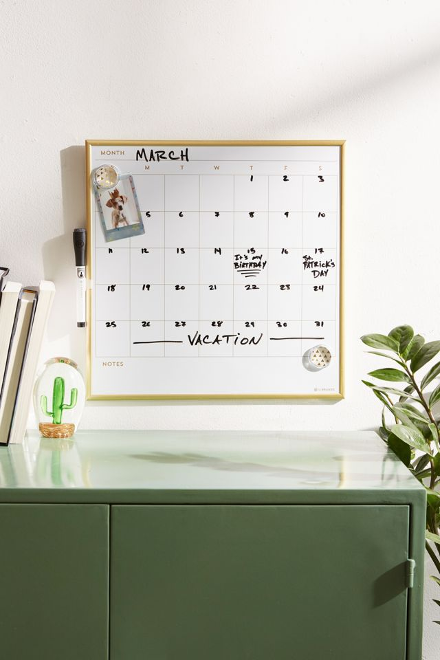 Urban Outfitters Dry Erase Calendar Message Board