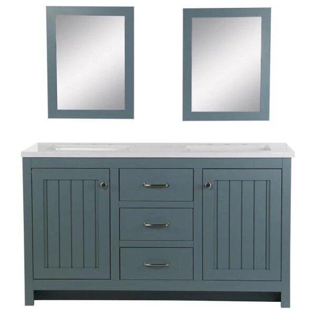 "Home Decorators Collection Harrisford 61"" Double Vanity"