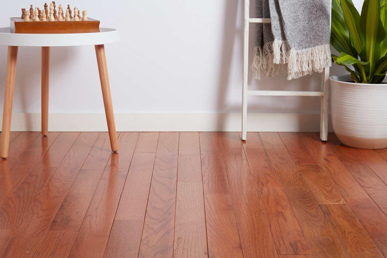 Piso de madera de la sala de estar