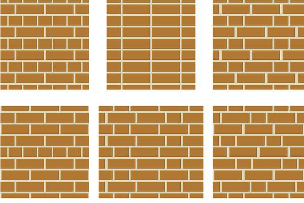 Different brick bonds