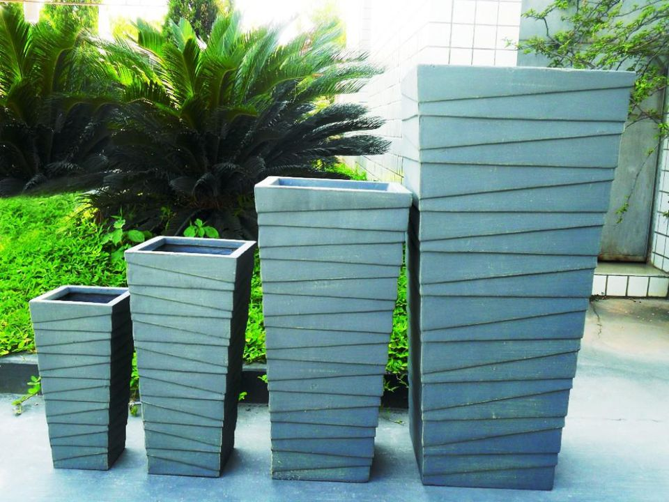 Modern painted planters