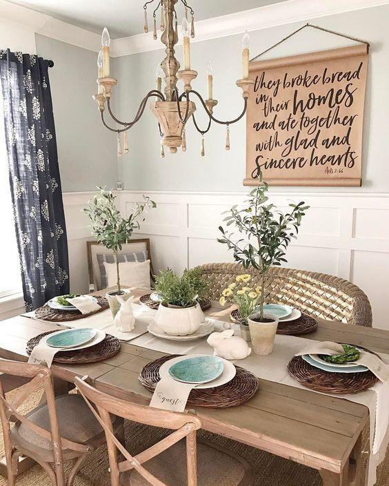 Vintage style dining room