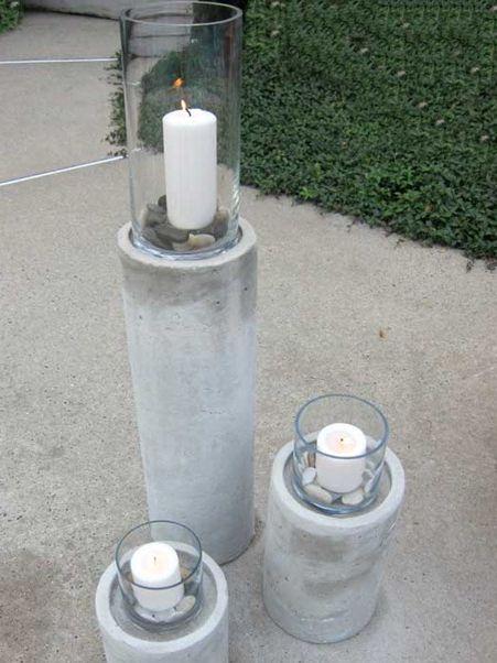 DIY Concrete Fire Column