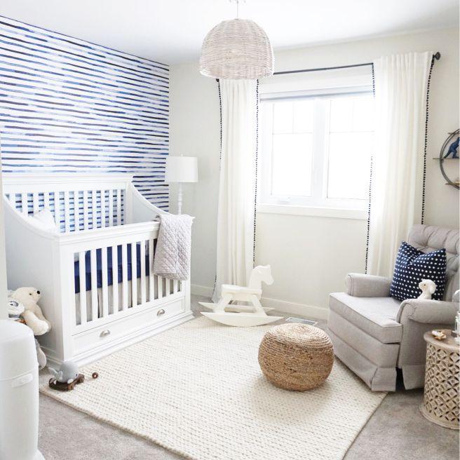 Coastal nursery with blue accents