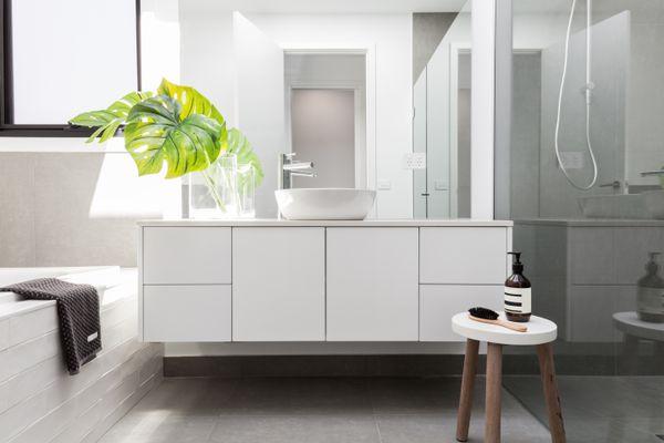 Luxury white family bathroom