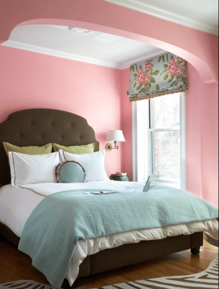 Pink Brown And Blue Bedroom