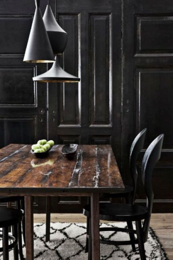 Image of: 8 Chic Black Dining Rooms