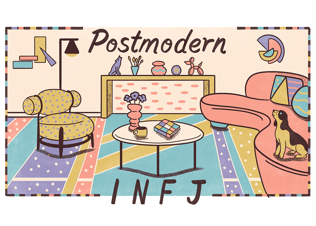 An illustration of the ideal home for an INFJ