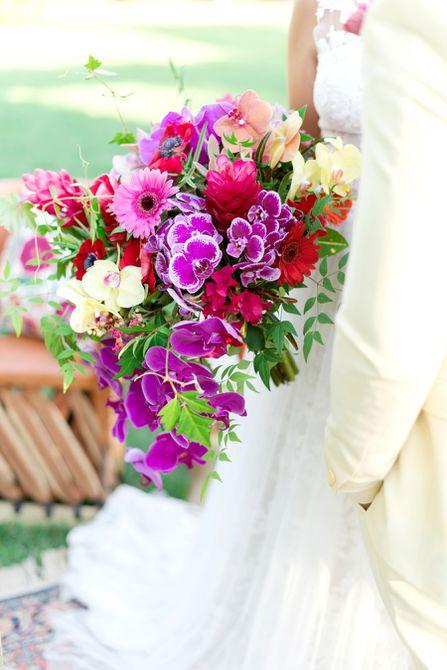 Bouquet de bodas de verano Orchid