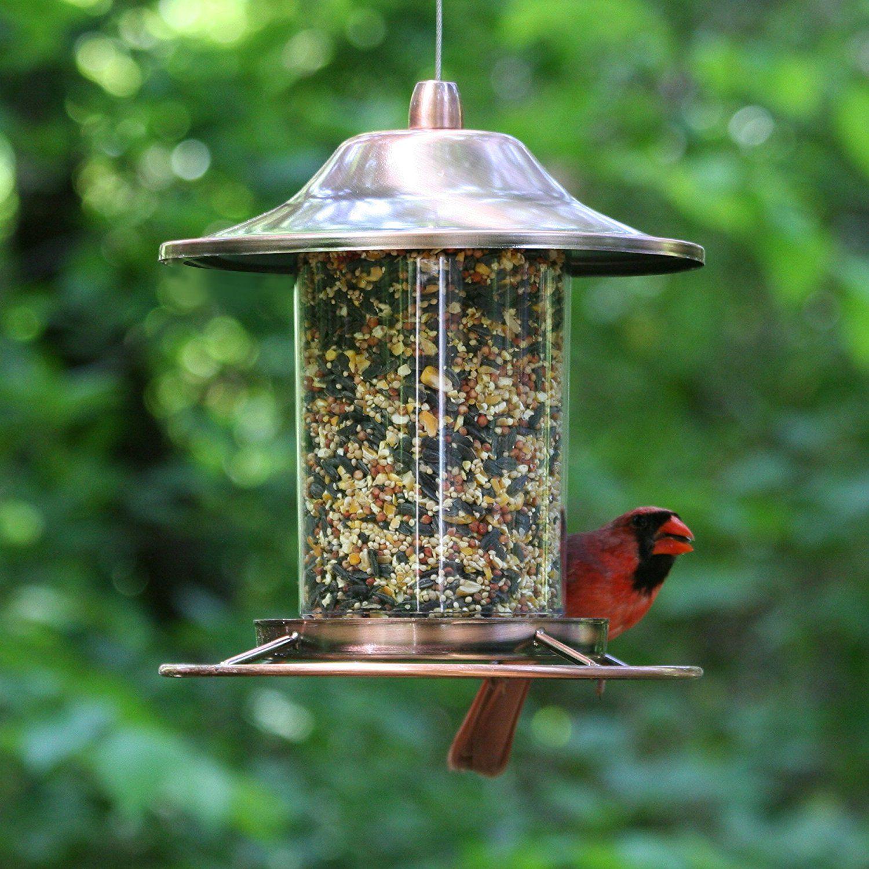 METAL ROBIN BIRD FEEDER HANGING FREESTANDING WITH HOOK FOR FOOD