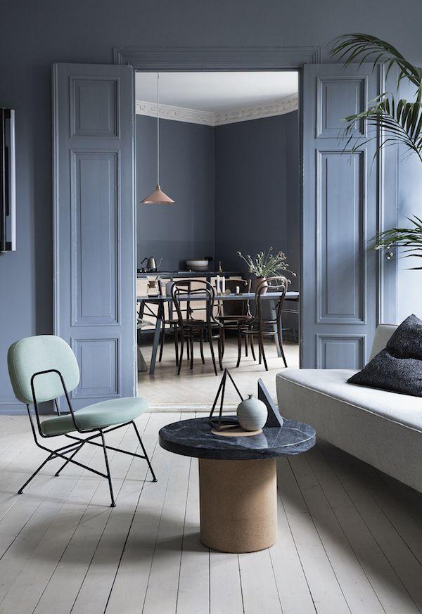 Light blue living space