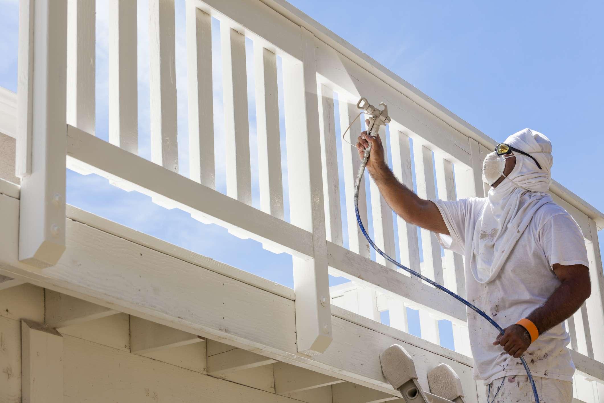 Spray painting home