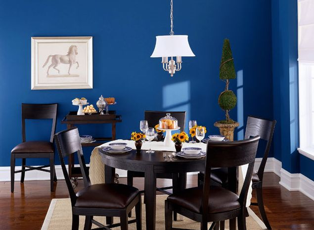 Blue Paint For Dining Room: Dining Room Paint Color Ideas