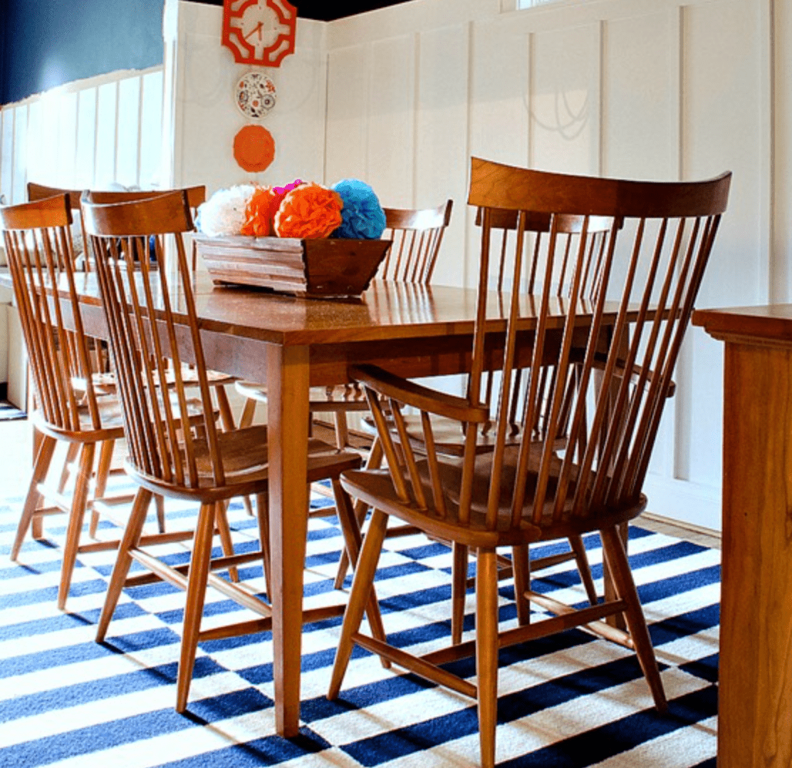 board and batten dining room